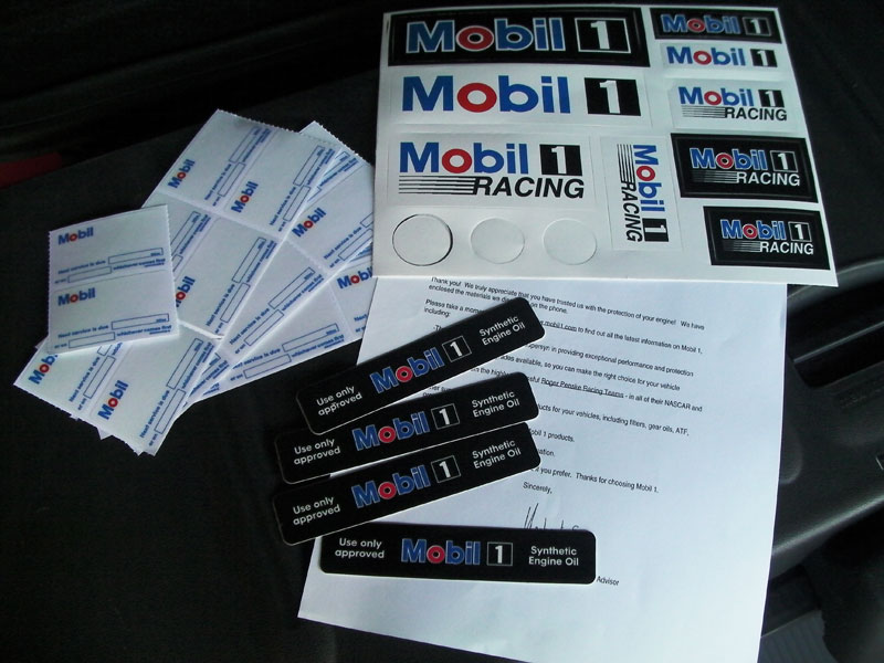 Free swag from mobil 1 smart car forums