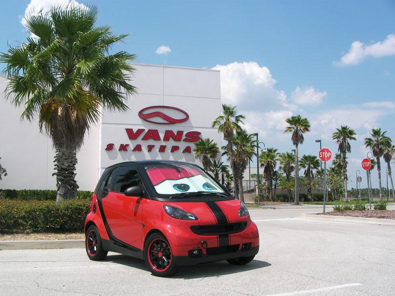 Custom Smart Sunshade DIY (Pixar Cars) - Smart Car Forums e6fbdbc7f19
